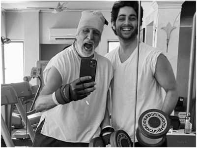 Big B shares a selfie with grandson Agastya