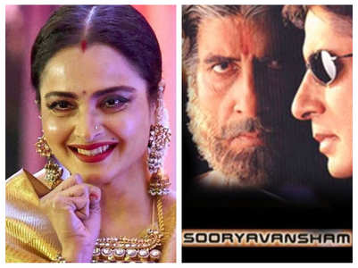 Rekha dubbed for Big B's 'Sooryavansham'