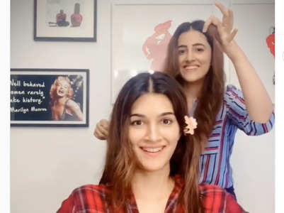Kriti Sanon gets a quarantine makeover