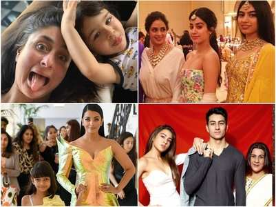 Bollywood star kids with their mothers