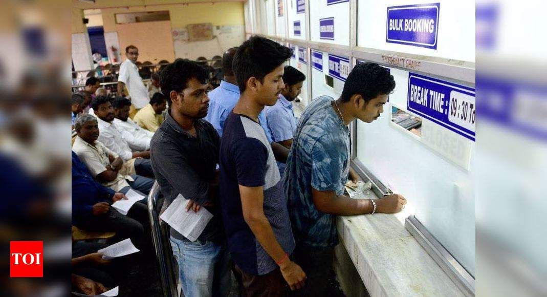 Railway ticket booking counters to open from today in phased manner   India News – Times of India