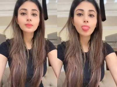 Videos: Mouni Roy looks pretty in black