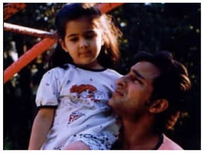 Pic: Sara Ali Khan is daddy's little girl