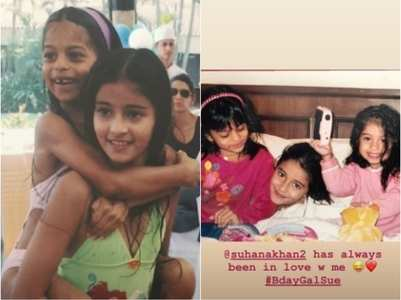 Ananya shares cute unseen pics with Suhana