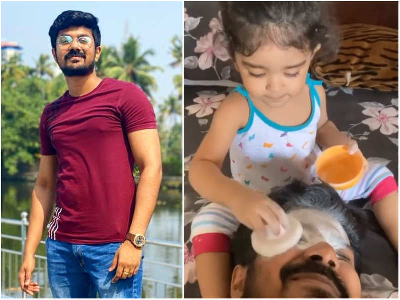 Watch: Arun shares a video of daughter Daya giving him a funny makeover
