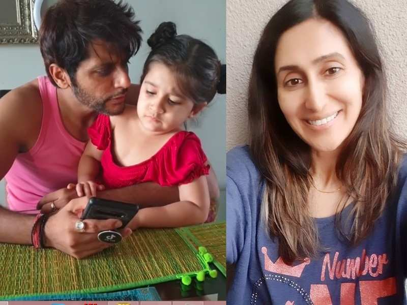Karanvir Bohra's daughter asks him to apologise to Teejay for whacking her jokingly; asks angrily 'why did you hit mom?'