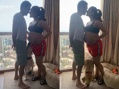 Shikha's pregnancy pics with hubby