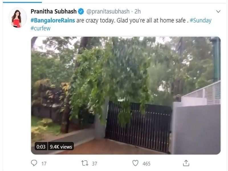 Kannada celebrities share their experience of the Bengaluru rains