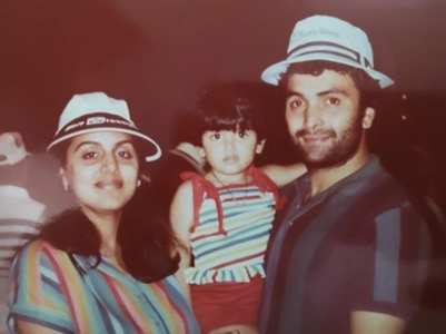 Riddhima's cute throwback pic with parents