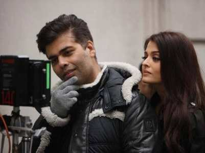Karan Johar's candid on set BTS pictures