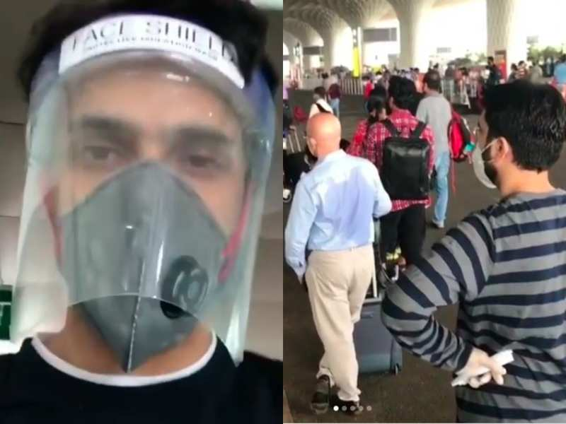 Parth Samthaan boards a domestic flight with face shield as operations resume; shares video of his experience