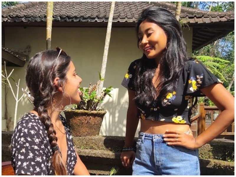 Ankita Konwar (right) with a friend
