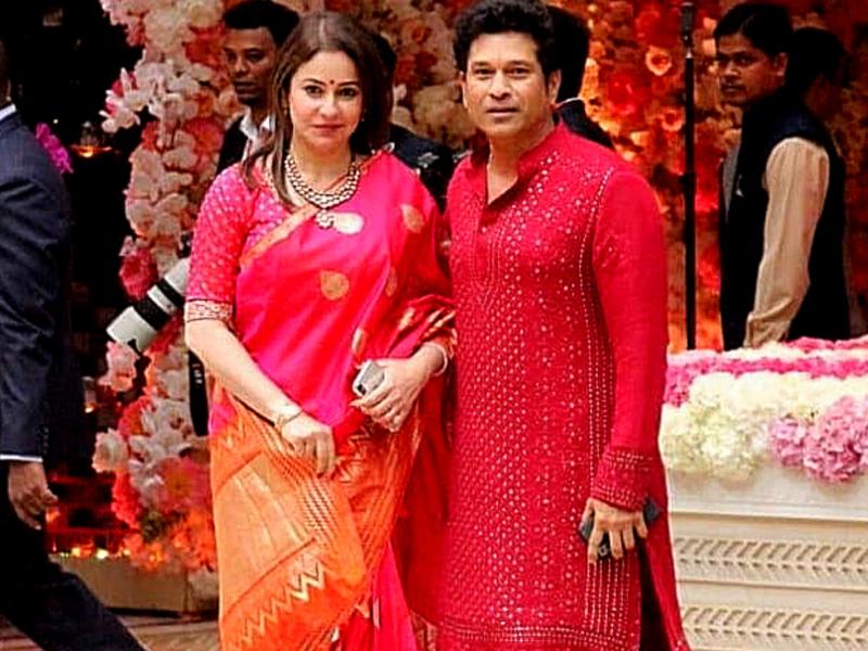 Sachin Tendulkar with his wife Anjali Tendulkar (Image: Instagram)