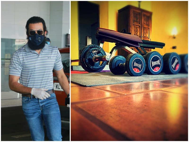 Prithviraj Sukumaran has a small gym inside his quarantine room