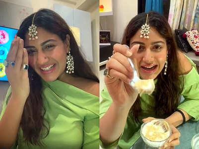 Surbhi Chandna prepares Goan dessert