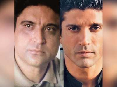 'Like father like son' - Pic of Javed & Farhan