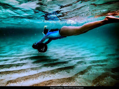 Check out Ileana's latest underwater post