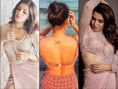 Samantha reveals her TATTOOS in these PICS