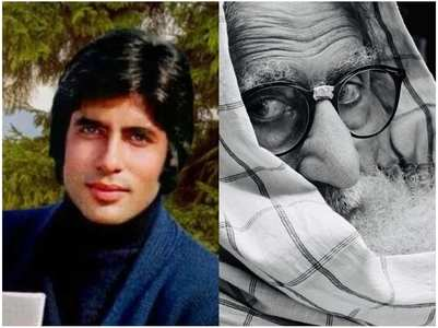 Amitabh Bachchan shares a 'then and now' pic