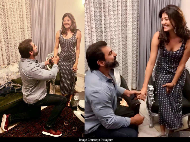 This Day Last Year: Pooja Batra shares UNSEEN pictures of Nawab Shah proposing her for marriage and it is all things romantic!