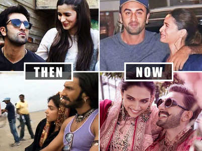 Pics of couples when they first met & now