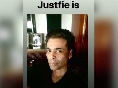Filmmaker Karan Johar shares a cool 'Justfie'!