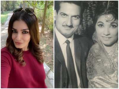 Raveena wishes parents on their anniversary
