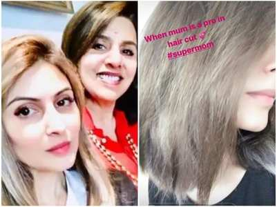 Neetu gives daughter Riddhima new hairstyle