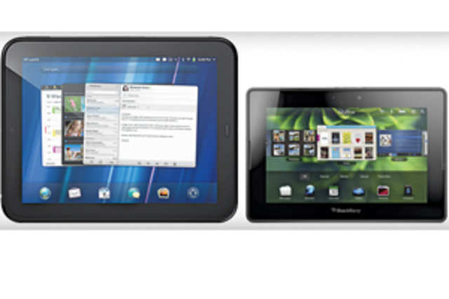 Hewlett-Packard has accused Blackberry mobile maker Research In Motion (RIM) of copying its tablet TouchPad UI.