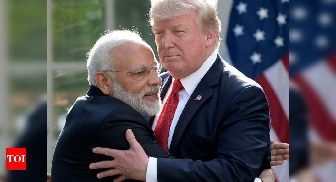 Trump claims Modi unhappy over China developments as he readies punitive action against Beijing – Times of India
