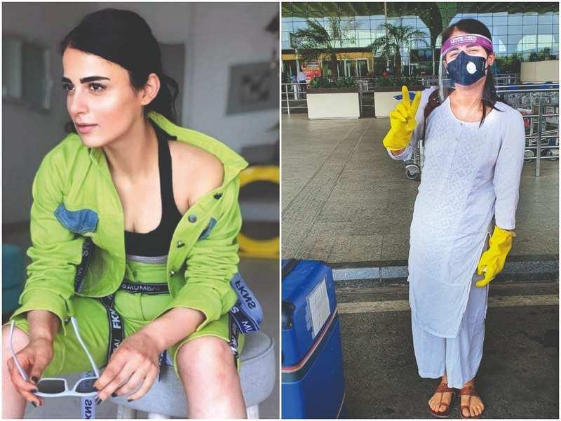 Radhika Madan and at the airport