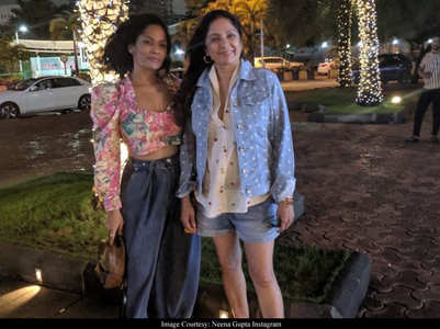 Neena posts uncropped photo with Masaba