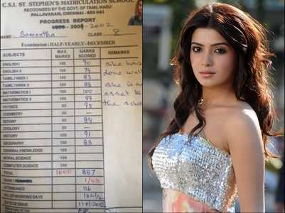 Samantha's school report card goes viral