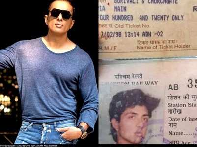 Sonu looks unrecognisable in old train pass