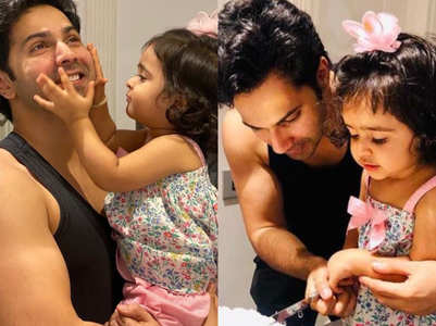 Varun and niece Niyara's pics are too cute
