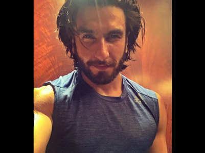 Ranveer shares his post workout selfie