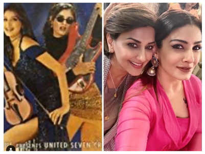 Then-and-now pic of Raveena and Sonali
