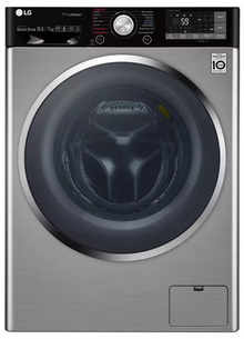 LG 10.5 Kg Inverter Wi-Fi Fully-Automatic Front Loading Washer Dryer (F4J9JHP2TD, STS, Inbuilt Heater)