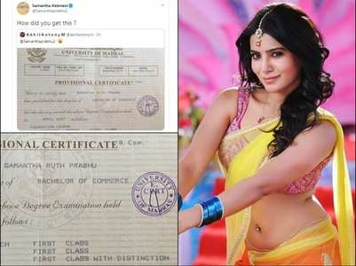 Pic: Samantha's Bachelor's Degree certificate