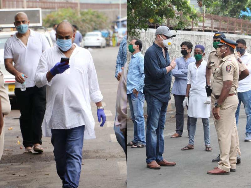 Brother Sajid Khan, Aditya Pancholi attend Wajid Khan's last rites in Mumbai