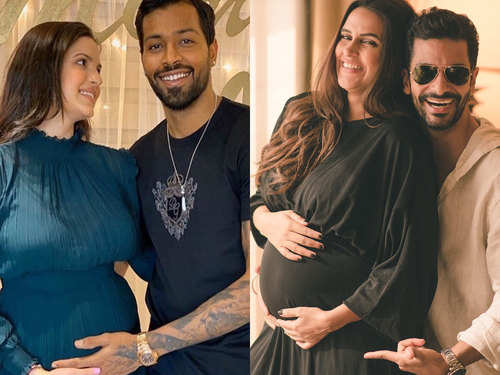 Natasa Stankovic Hardik Pandya To Neha Dhupia Angad Bedi Bollywood Celebs Who Made Their Pregnancy Announcements On Social Media The Times Of India