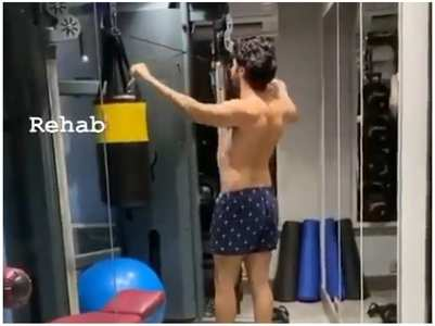 Watch: Varun has an intense workout session