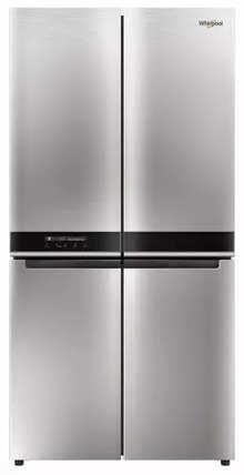 Whirlpool W Series 677 L Four Door Frost Free Refrigerator(Convertible Freezer, Saturn Steel, 10 Years Warranty )