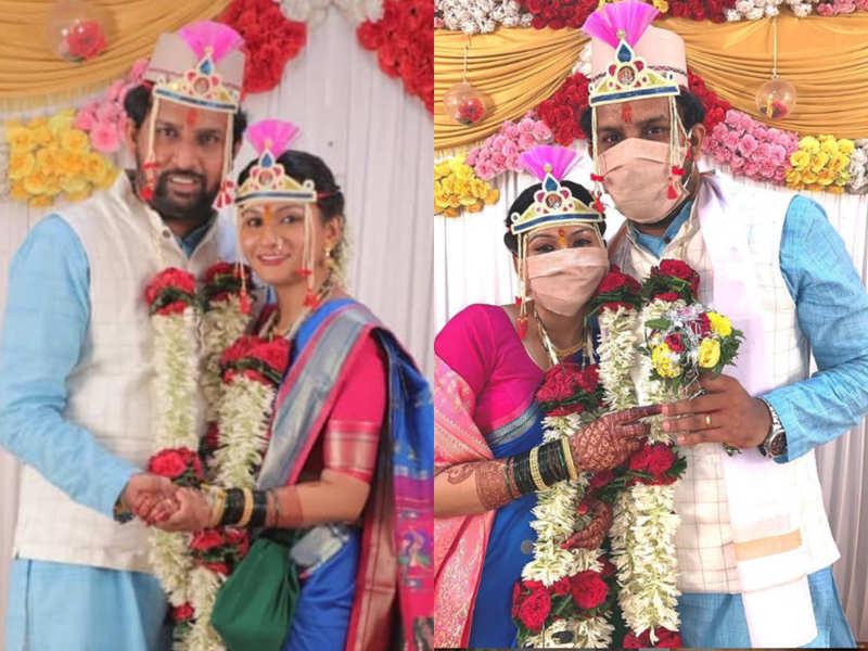 Lockdown wedding - Vaiju No.1 actress Suvedha Desai ties the knot with Sagar Gaonkar; see pics