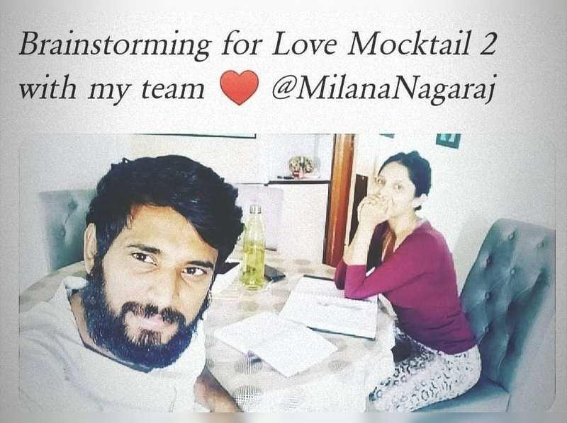 Darling Krishna and Milana Nagaraj busy with Love Mocktail 2