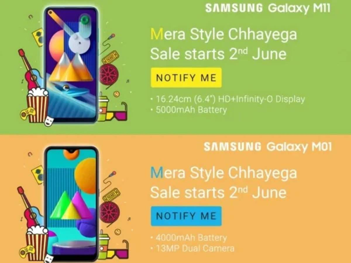 Samsung Galaxy M11 Galaxy M01 To Launch In India Today Expected Price And Specifications Times Of India