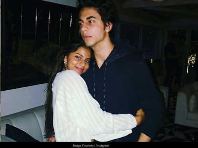 Throwback pics of Suhana and Aryan