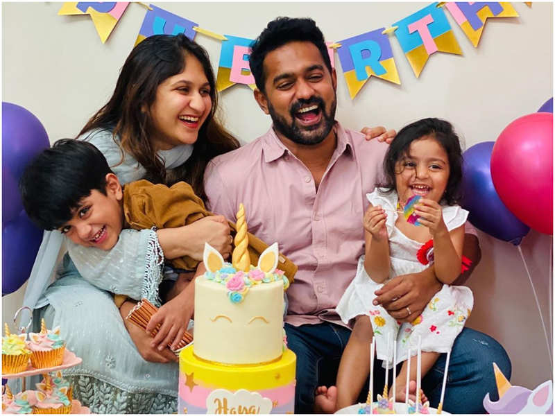 Asif Ali's daughter turns three! Take a look at the cutie's birthday bash