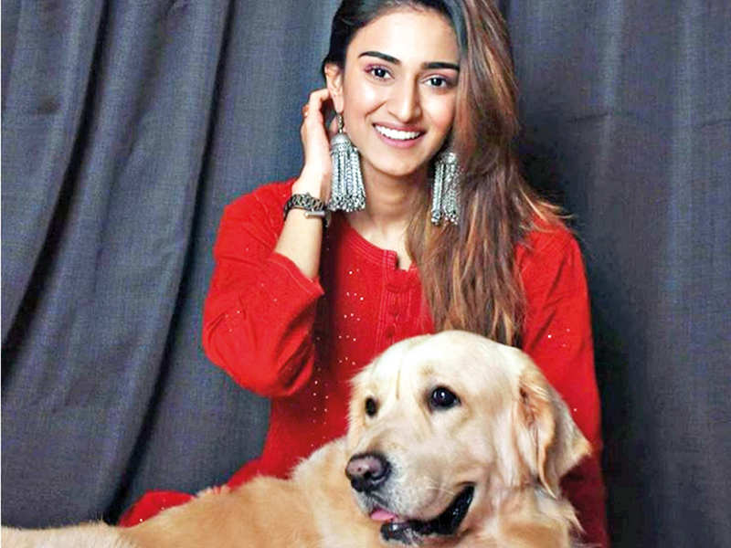 Erica Fernandes with her pet Champ