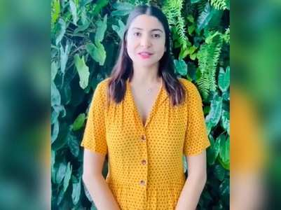 Anushka shares a video to fight climate change